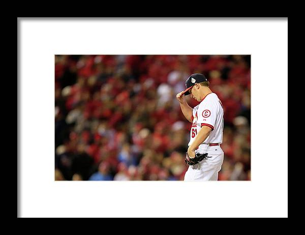 St. Louis Cardinals Framed Print featuring the photograph World Series - Boston Red Sox V St by Dilip Vishwanat