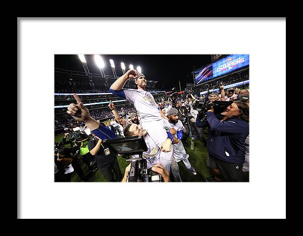 People Framed Print featuring the photograph World Series - Chicago Cubs V Cleveland 4 by Ezra Shaw