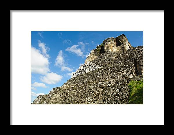 Ancient Framed Print featuring the photograph Xunantunich Belize Mayan Temple by Brandon Bourdages
