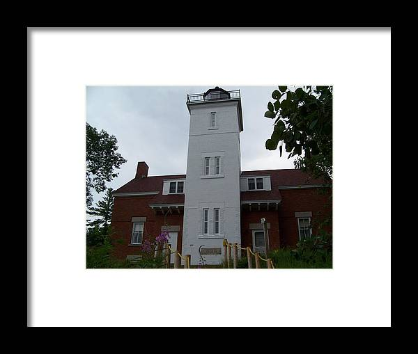 Lighthouse Framed Print featuring the photograph 40 Mile Point Lighthouse by Jennifer King