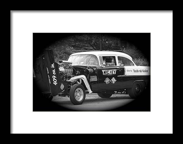 Black And White Framed Print featuring the photograph 409 Cu Inches Black And White by Thomas Woolworth