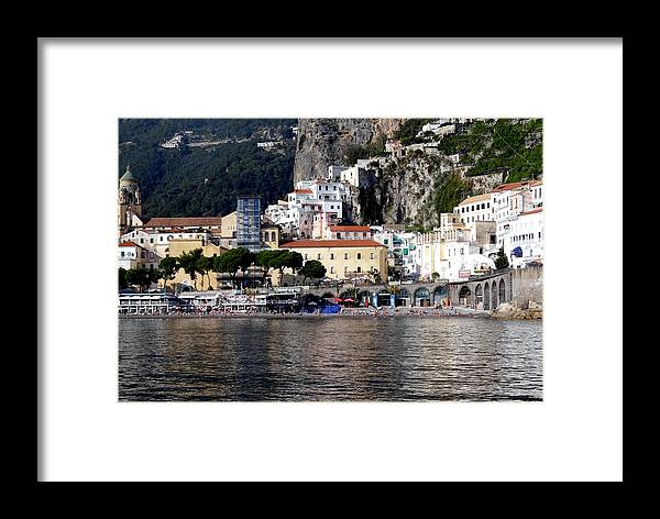 Amalfi Coast Framed Print featuring the photograph Views From The Amalfi Coast In Italy by Richard Rosenshein