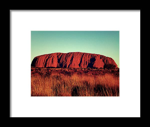 Uluru Framed Print featuring the photograph Uluru by Girish J