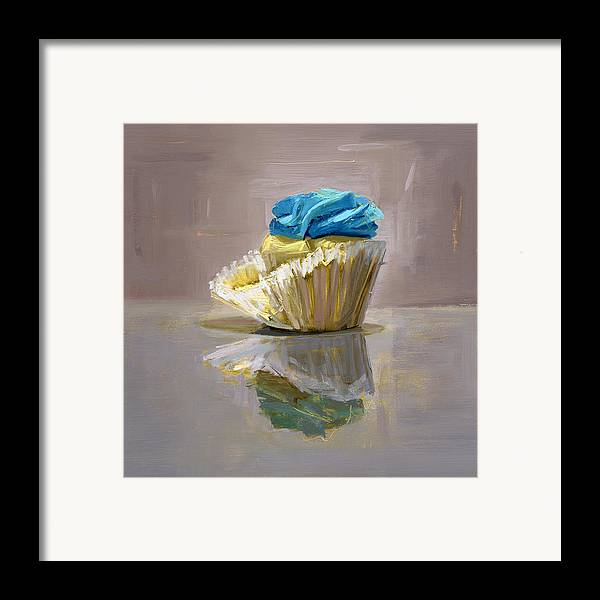 Cupcake Framed Print featuring the painting Rcnpaintings.com by Chris N Rohrbach