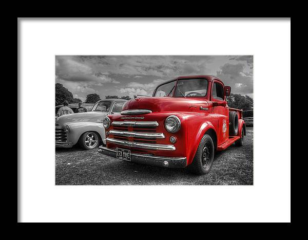 Hdr Framed Print featuring the photograph 48' Dodge Fargo by Lee Nichols