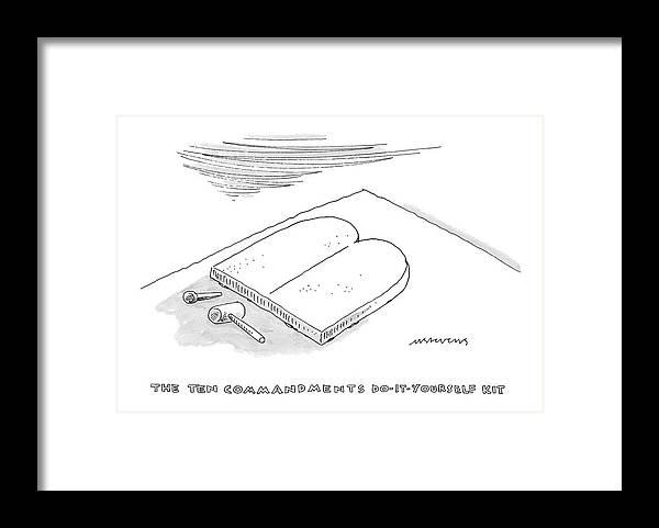 The Ten Commandments Do It Yourself Kit Framed Print By Mick Stevens