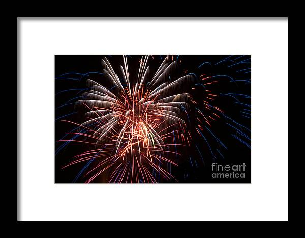Night Framed Print featuring the photograph 4th Of July by Amy Bynum