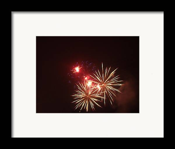 Fireworks Framed Print featuring the photograph 4th Of July by Danielle Jackitis