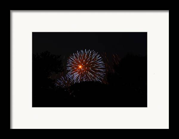 Washington Framed Print featuring the photograph 4th Of July Fireworks - 011314 by DC Photographer