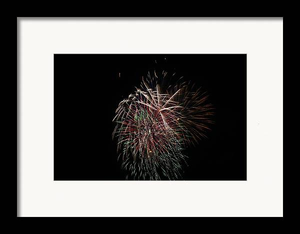 Fireworks Framed Print featuring the photograph 4th Of July Fireworks by Alan Hutchins