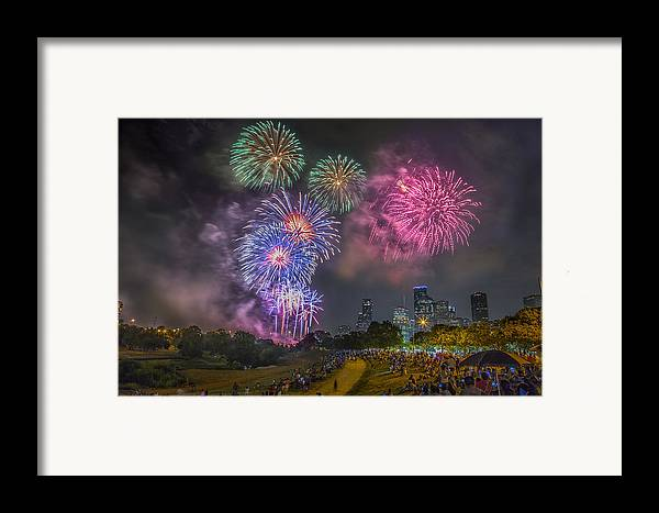 4th Framed Print featuring the photograph 4th Of July In Houston Texas by Micah Goff