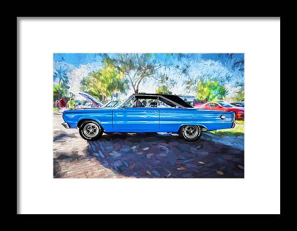 1967 Plymouth Framed Print featuring the photograph 1967 Plymouth Belvedere Gtx 440 Painted by Rich Franco