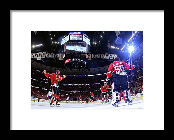 Playoffs Framed Print featuring the photograph 2015 Nhl Stanley Cup Final - Game Six by Bruce Bennett
