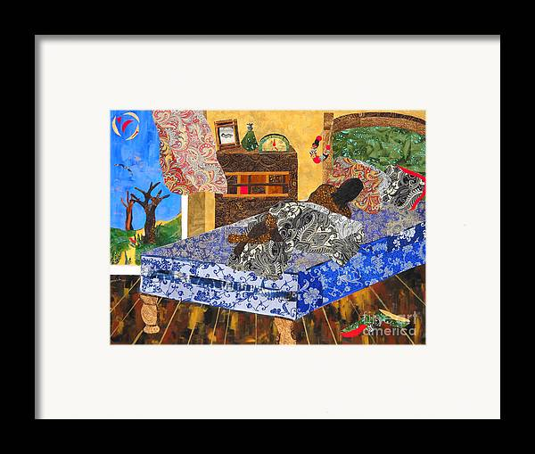 Collage Framed Print featuring the mixed media 5 Am by Paula Drysdale Frazell