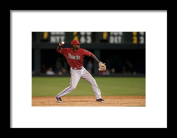 Ninth Inning Framed Print featuring the photograph Arizona Diamondbacks V Colorado Rockies 5 by Dustin Bradford
