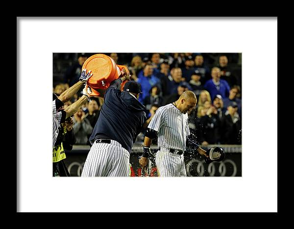 Ninth Inning Framed Print featuring the photograph Baltimore Orioles V New York Yankees 5 by Al Bello