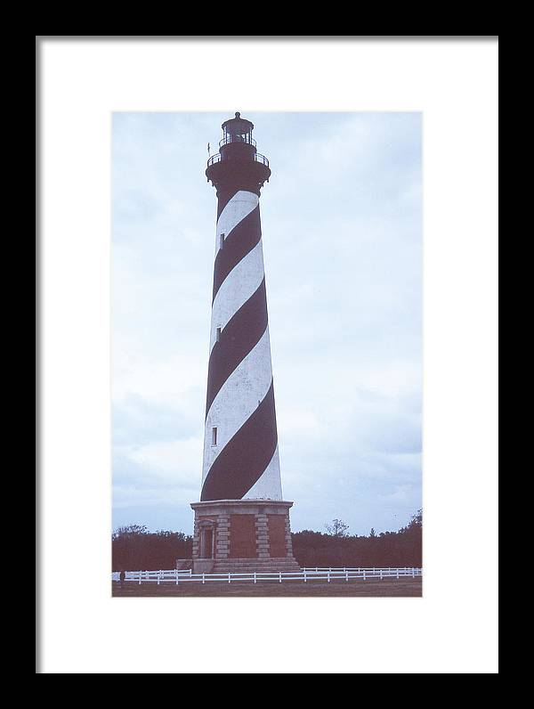 Cape Hatteras Light Framed Print featuring the photograph Cape Hatteras Light by Herbert Gatewood