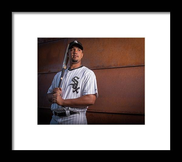 Media Day Framed Print featuring the photograph Chicago Whte Sox Photo Day by Rob Tringali