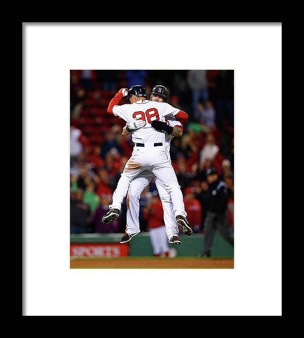 American League Baseball Framed Print featuring the photograph Cincinnati Reds V Boston Red Sox 5 by Jared Wickerham