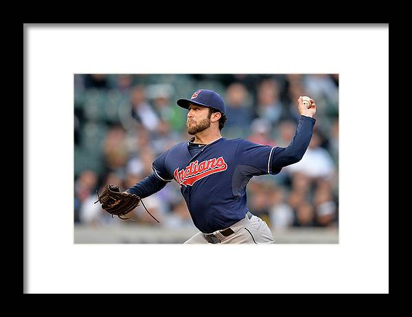 American League Baseball Framed Print featuring the photograph Cleveland Indians V Chicago White Sox by Brian Kersey