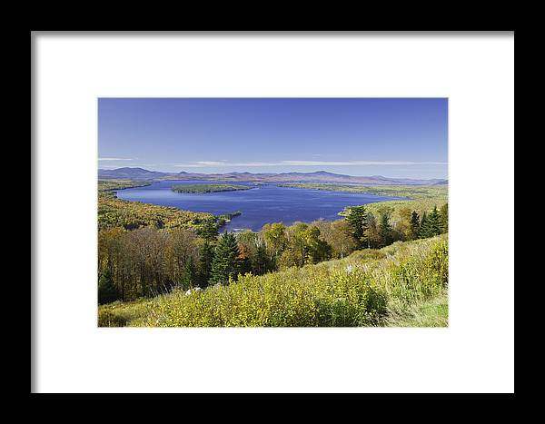 Landscape Framed Print featuring the photograph Colorful Fall Forest Near Rangeley Maine by Keith Webber Jr