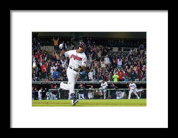 American League Baseball Framed Print featuring the photograph Detroit Tigers V Cleveland Indians 5 by Jason Miller