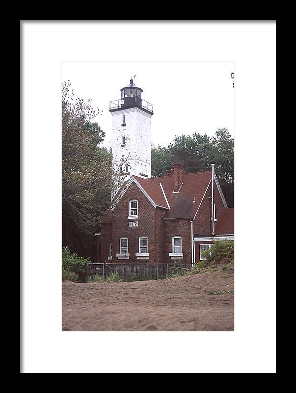 Forty Mile Point Light Framed Print featuring the photograph Forty Mile Point Light by Herbert Gatewood