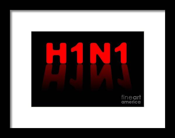 H1n1 Framed Print featuring the digital art H1n1 Sign by Henrik Lehnerer