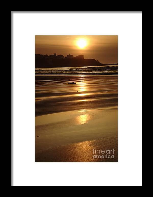 Atlantic Ocean Framed Print featuring the photograph Hampton Beach New Hampshire Usa by Erin Paul Donovan