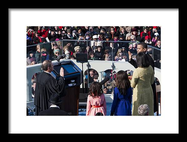 Barack Obama Framed Print featuring the photograph Inauguration by JP Tripp
