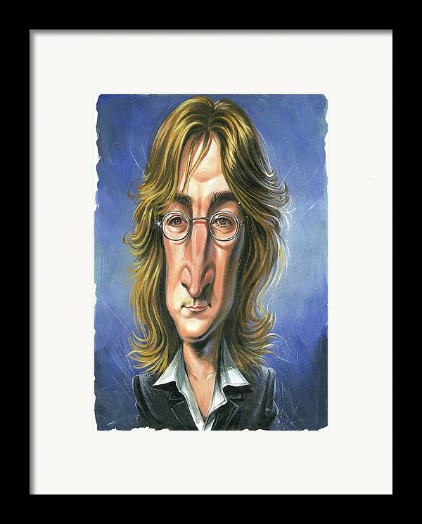 John Lennon Framed Print featuring the painting John Lennon by Art