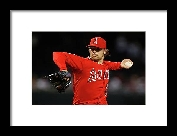 People Framed Print featuring the photograph Los Angeles Angels Of Anaheim V Arizona by Christian Petersen