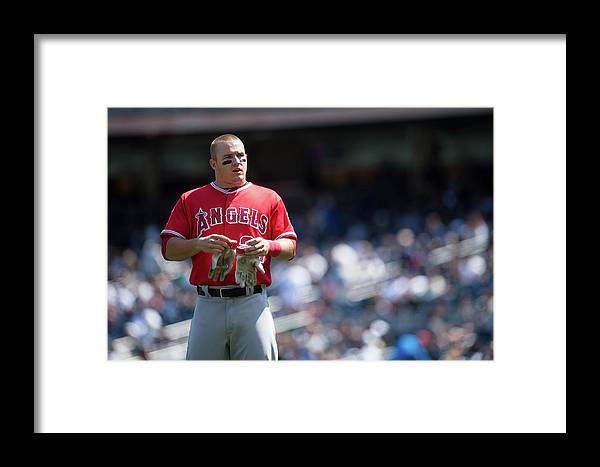 People Framed Print featuring the photograph Los Angeles Angels Of Anaheim V New 5 by Rob Tringali