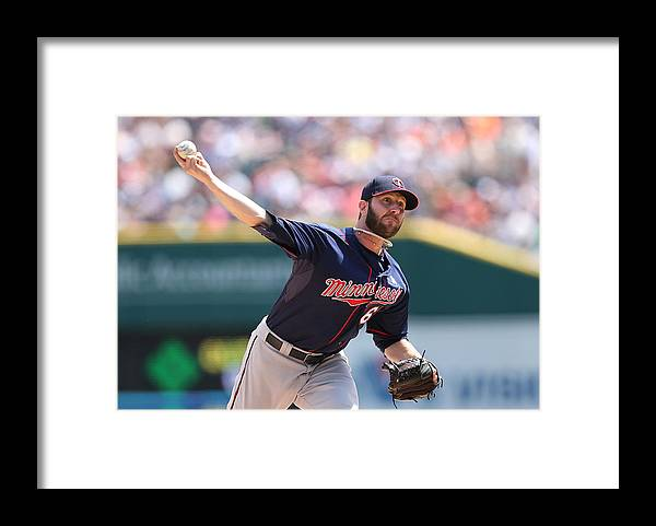 American League Baseball Framed Print featuring the photograph Minnesota Twins V Detroit Tigers by Leon Halip