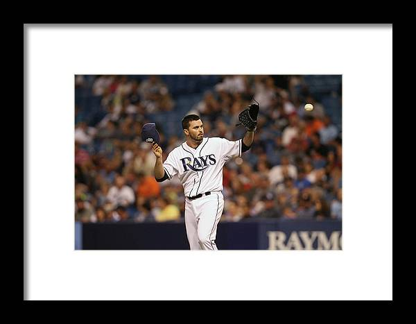 American League Baseball Framed Print featuring the photograph Minnesota Twins V Tampa Bay Rays 5 by Scott Iskowitz