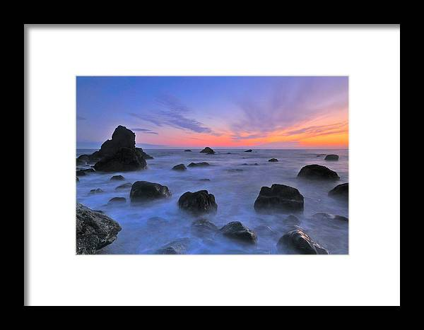 Muir Beach Framed Print featuring the photograph Muir Beach Sunset by Mark Rasmussen