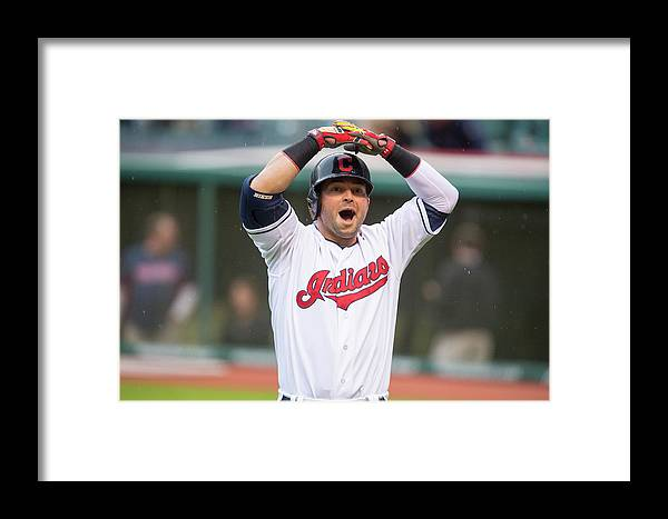 American League Baseball Framed Print featuring the photograph Oakland Athletics V Cleveland Indians 5 by Jason Miller