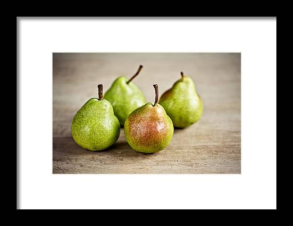 Pear Framed Print featuring the photograph Pears by Nailia Schwarz