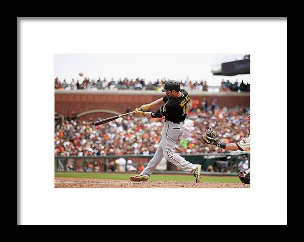 San Francisco Framed Print featuring the photograph Pittsburgh Pirates V San Francisco 5 by Ezra Shaw