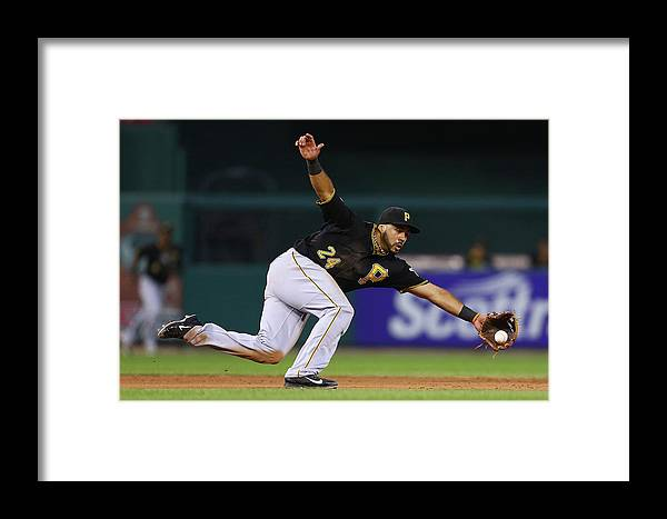 Ball Framed Print featuring the photograph Pittsburgh Pirates V St. Louis Cardinals by Dilip Vishwanat