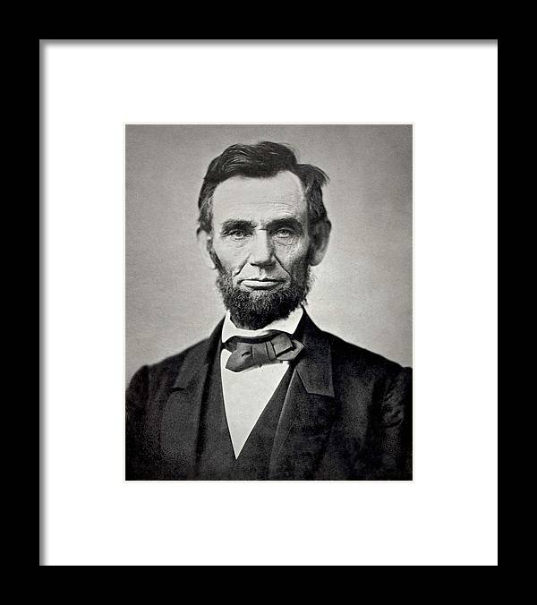 classic Framed Print featuring the photograph President Abraham Lincoln by Retro Images Archive
