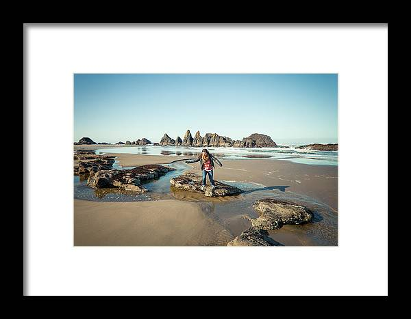 25-29 Years Framed Print featuring the photograph Seal Rock Beach by Christopher Kimmel