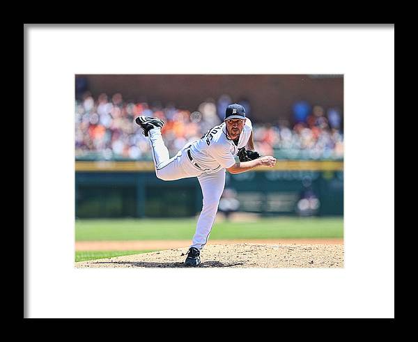 American League Baseball Framed Print featuring the photograph Texas Rangers V Detroit Tigers 5 by Leon Halip