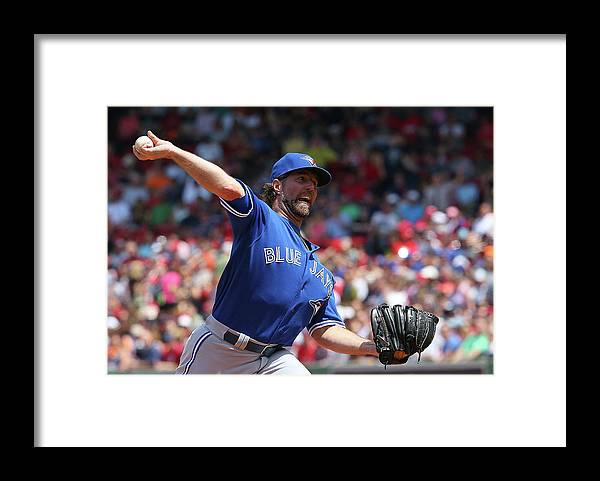People Framed Print featuring the photograph Toronto Blue Jays V Boston Red Sox by Jim Rogash