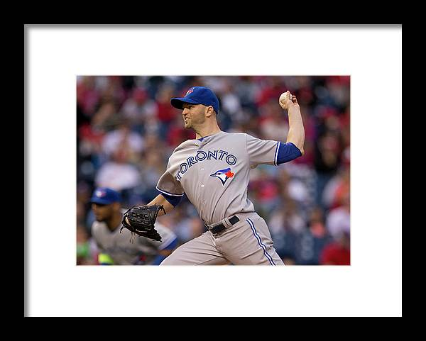 Citizens Bank Park Framed Print featuring the photograph Toronto Blue Jays V Philadelphia by Mitchell Leff