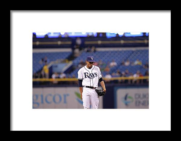 American League Baseball Framed Print featuring the photograph Toronto Blue Jays V Tampa Bay Rays 5 by Brian Blanco