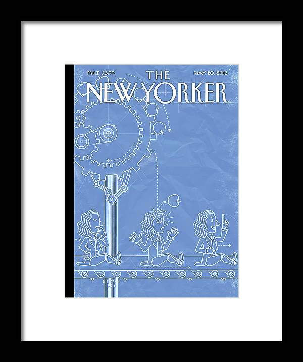 Intelligent Design Framed Print featuring the painting New Yorker May 20th, 2013 by Christoph Niemann