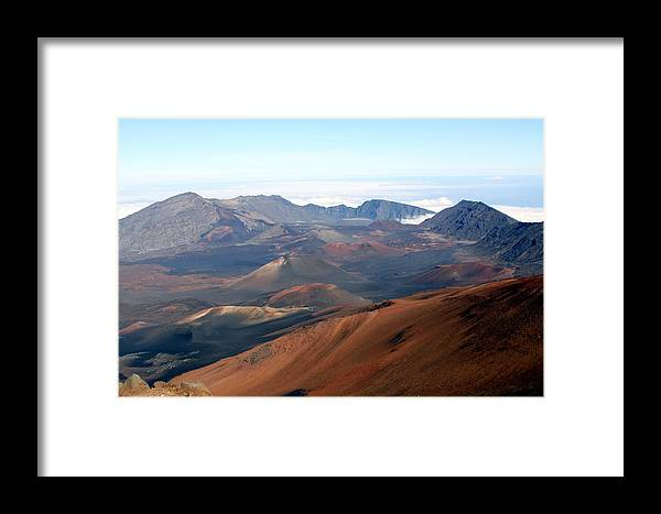 Nature Framed Print featuring the photograph Volcano by Dick Willis