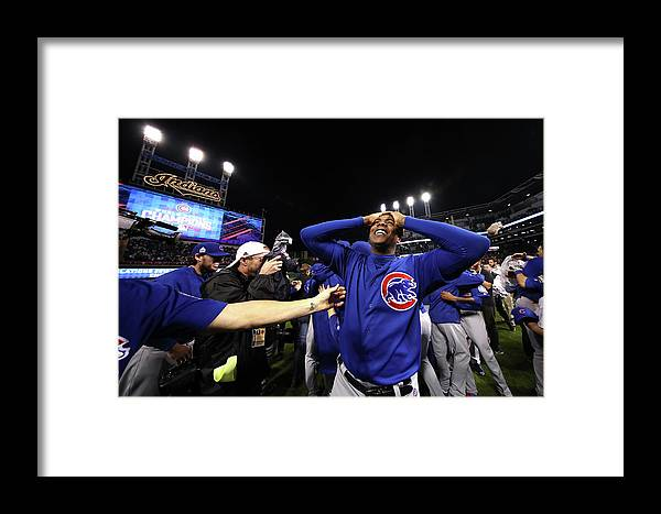 People Framed Print featuring the photograph World Series - Chicago Cubs V Cleveland 5 by Ezra Shaw