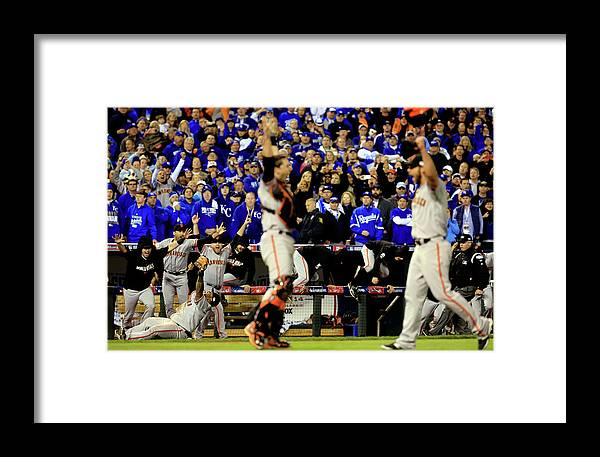American League Baseball Framed Print featuring the photograph World Series - San Francisco Giants V 5 by Jamie Squire